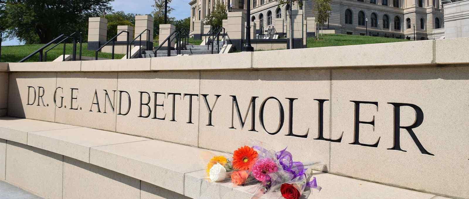 Flowers remembering Doc Moller