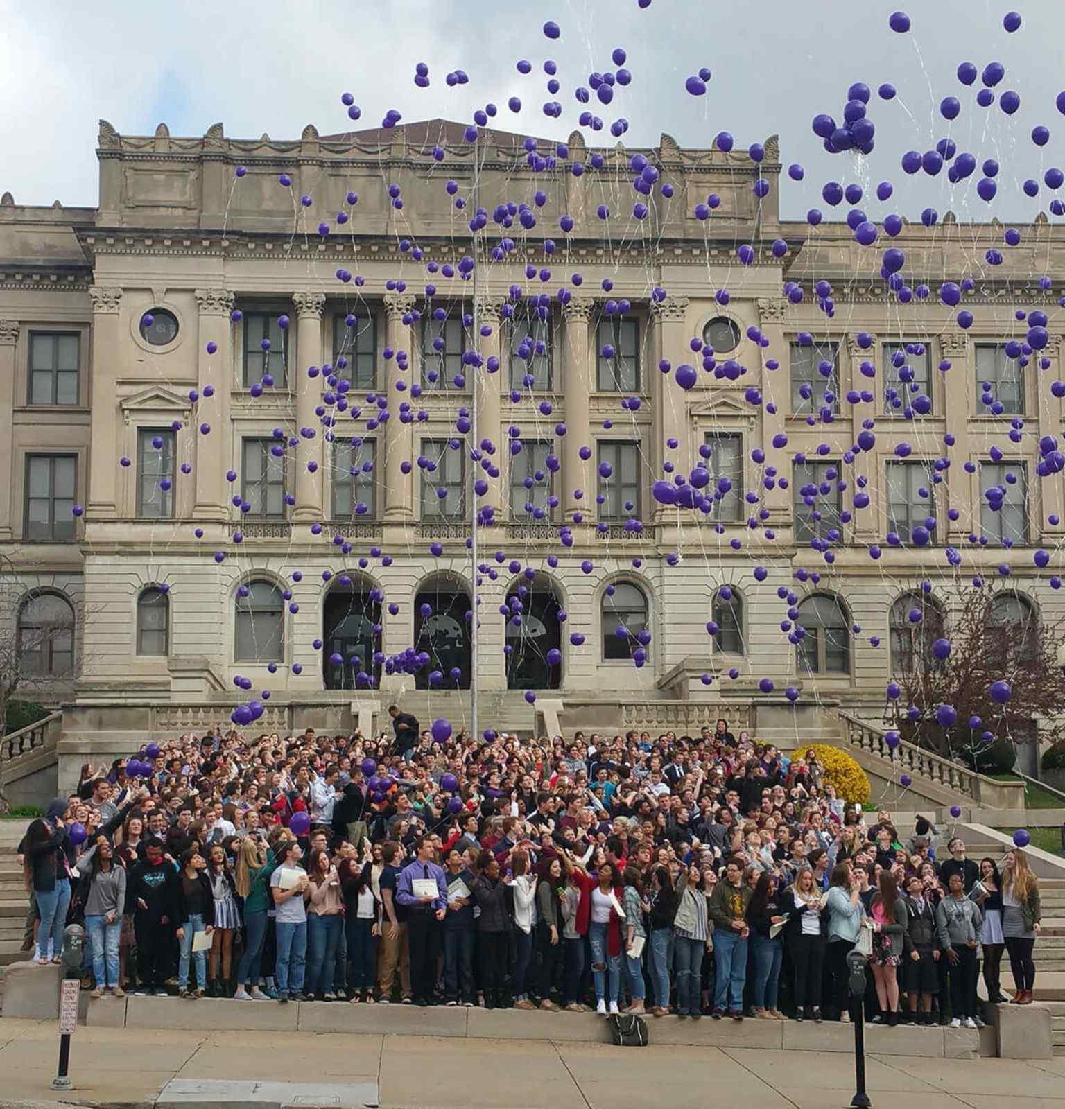 Central High School balloon release