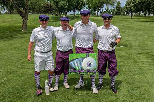 Scanlan foursome at Central High School Foundation Golf Outing